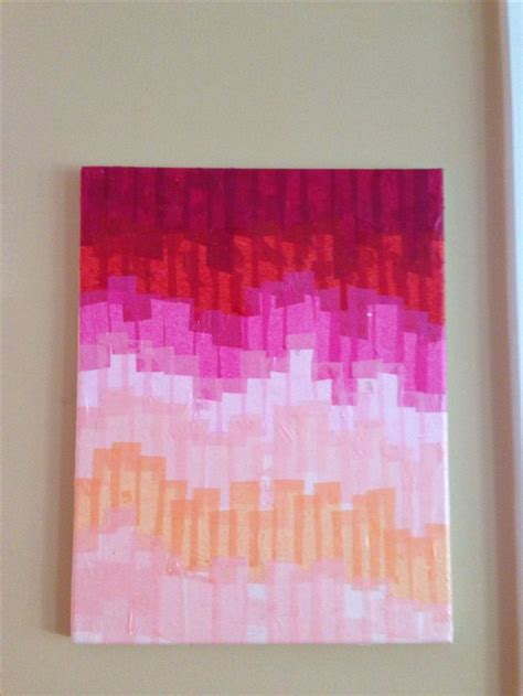 tissue paper  modge podge  canvas arts crafts diy   diy art diy artwork