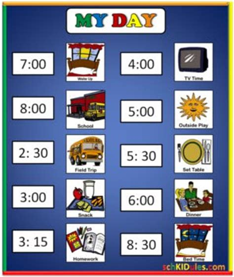 visual schedule creating order in the home daily schedules i aba