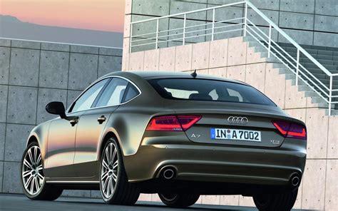 Audi A7 Backgrounds by 2011 Gray Audi A7 Sportback Back View Hd Desktop Wallpaper