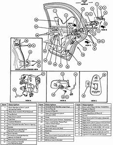 1989 Lincoln Continental Driver Door Latch Repair Diagram
