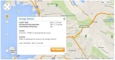 flood advisory  alameda county bay area power outage