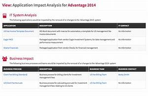 application portfolio management With application impact analysis template