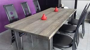 Table A Manger Bois : table a manger industrielle pas cher maison design ~ Preciouscoupons.com Idées de Décoration