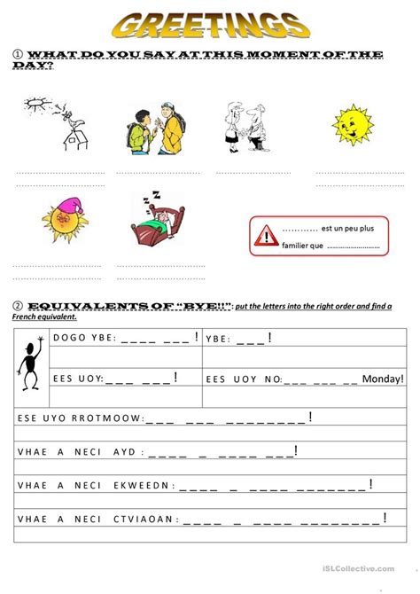 greetings worksheet free esl printable worksheets made