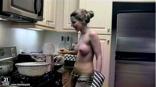 Arab Student Has Some Nice Busty #Delicious #Busty #Blond #Student #Cooks #Tasty #Dinner #For #Her