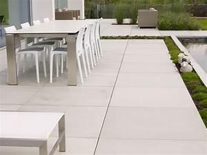 dallage moderne en beton de chez stone style modele With modele de terrasse en beton