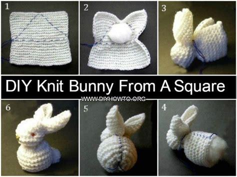 diy knit bunny   square  pattern