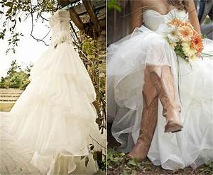 rustic wedding with bridesmaids in cowboy boots rustic With wedding dress cowboy boots