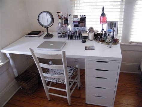white makeup desk ikea ikea makeup organization storage linnmon table top and