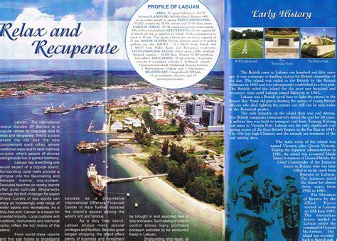 labuan brochures island borneo flyers