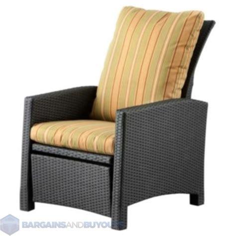 leggett and platt resin wicker recliner chair with cushion