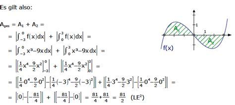 integral flaechenberechnung integrale flaecheninhalt