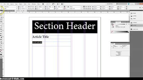 basic newspaper template basic newspaper layout youtube
