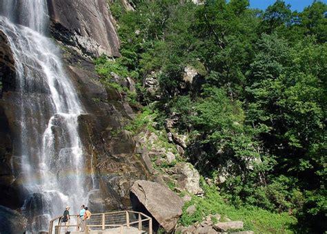 hickory falls hickory nut falls trail at chimney rock at chimney rock state park