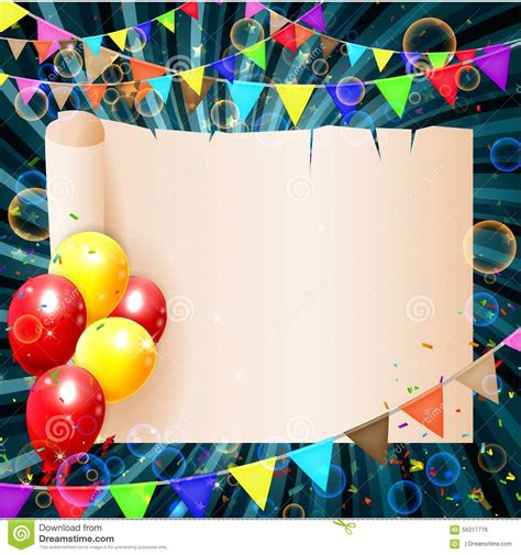 birthday background  colorful balloons stock vector