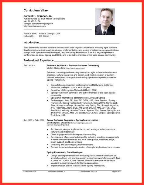 resume usa template good resume format