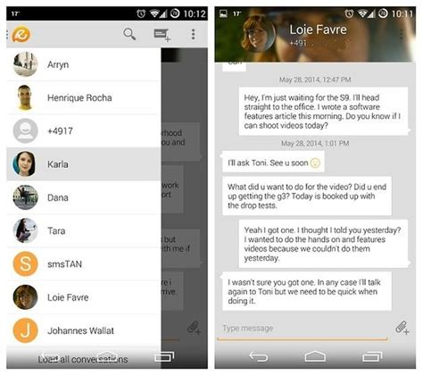 best android sms app 9 best free texting apps for android androidpit