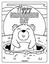 Coloring Groundhog sketch template