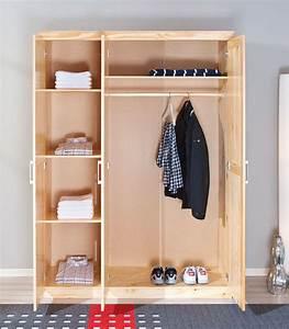 Kleider Aufhängen Stange : dreht ren kleiderschrank aus kiefer mit drei t ren graz ~ Michelbontemps.com Haus und Dekorationen
