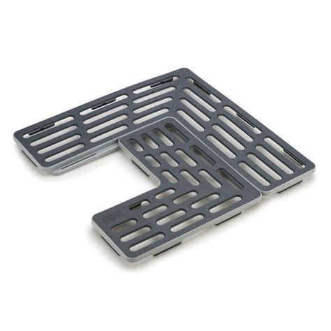 tapis d evier de cuisine sinksaver tapis fond d évier réglable joseph joseph gris