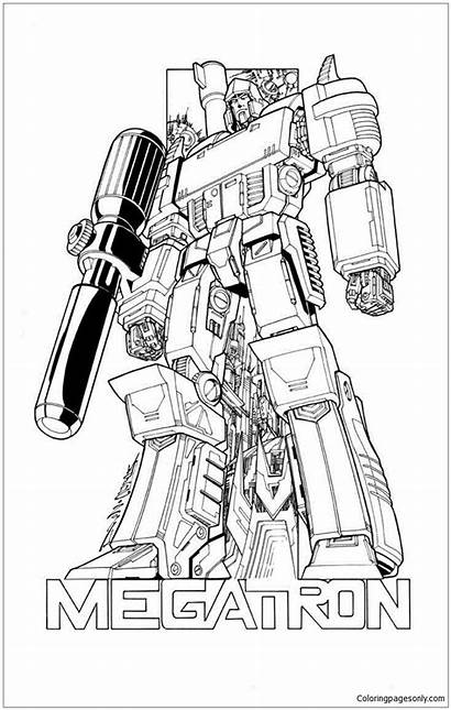 Transformers Megatron Pages Coloring Drawing Printable Coloringpagesonly
