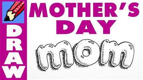 draw mom  bubble writing  mothers day youtube
