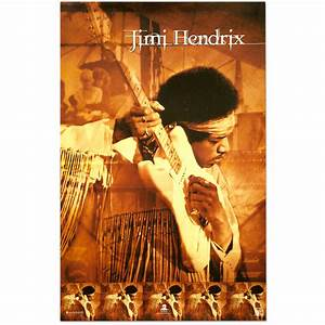 Jimi Hendrix Live At Woodstock Poster | Musictoday Superstore