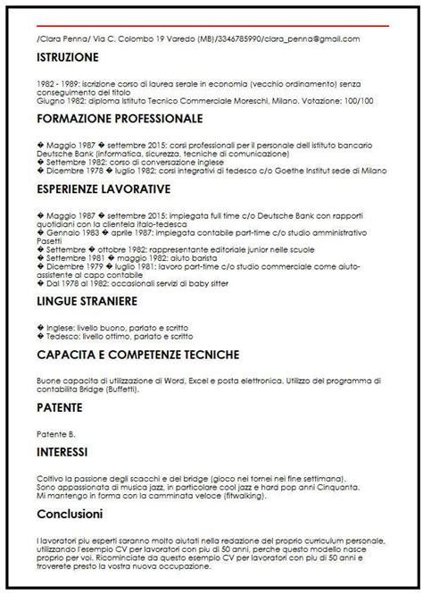 Curriculum Vitae Builder by Esempio Cv Idraulico Curriculum Vitae Builder