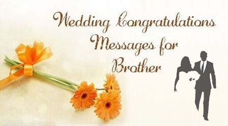 congratulations messages  brother marriage wedding  wishes