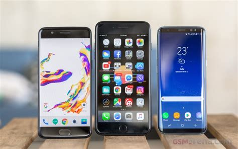 oneplus 5 vs galaxy s8 vs iphone 7 plus software