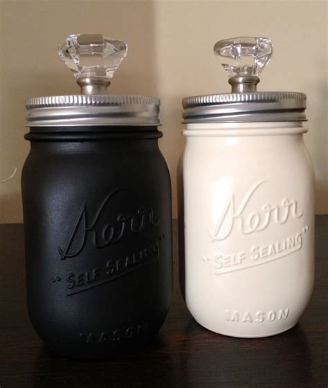 spray painted mason jar canisters kitchen ideas spray