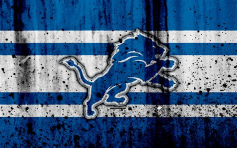 wallpapers  detroit lions grunge nfl