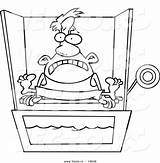Tank Dunk Coloring Cartoon Sitting Vector Outlined Toonaday sketch template