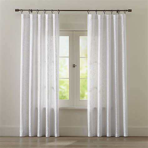 lindstrom white cotton curtains crate  barrel