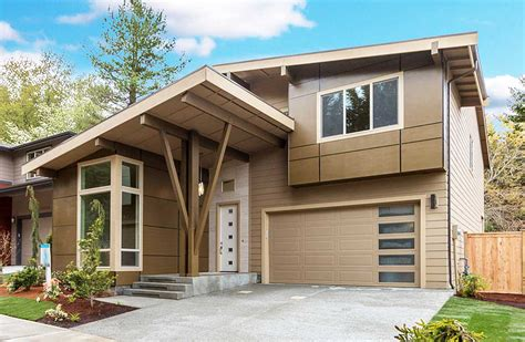 contemporary house plan contemporary house plan with vaulted den 23605jd