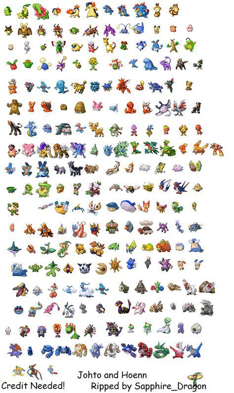 All Johto Pokemon