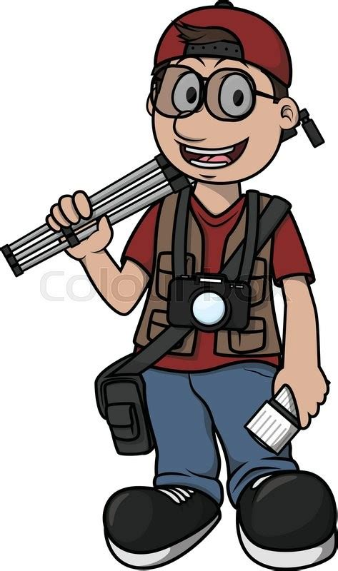 12144 professional photographer clipart photographer boy illustration design stock