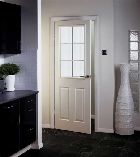 interior kitchen doors white glass panel interior doors ideas to provide more privacy at your home home doors design