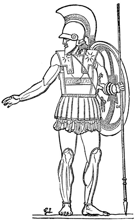 sparta greek coloring page printable