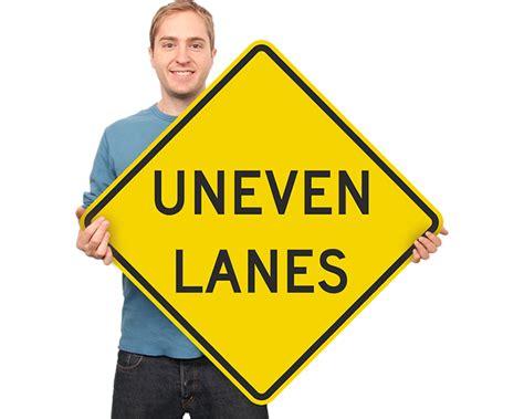 Road Traffic Lane Signs