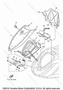 Yamaha Waverunner 2008 Oem Parts Diagram For Engine Hatch