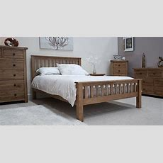 Tilson Solid Rustic Oak Bedroom Furniture 4'6 Double Bed