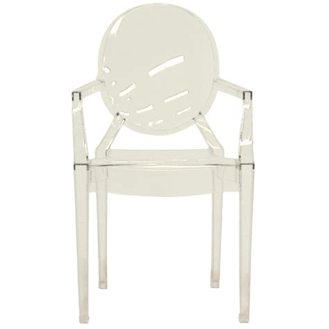 wholesale interiors set of two clear acrylic arm chairs