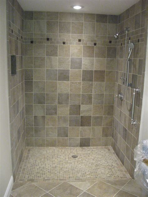 Pictures Of Tiled Bathroom Floors by Cool Chrome Polished Free Standing Shower Single