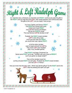 right left rudolph game passing game my family has played this for the last two years one