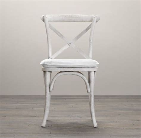 restoration hardware madeleine side chair white stained