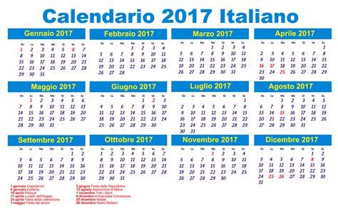 calendario italiano da stampare