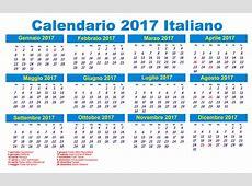 Calendario 2017 2018 Calendar printable for Free