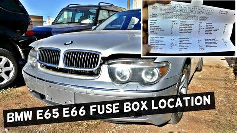 bmw   fuse box location  diagram  li