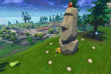 fortnite chercher ou les statues de pierre regardent